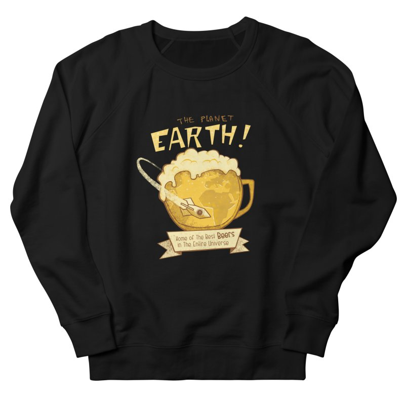 Space Beer Women's Sweatshirt by Jordy The Gnome's Artist Shop