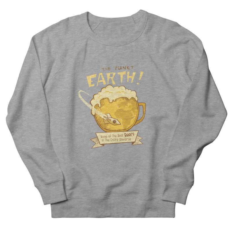 Space Beer Men's Sweatshirt by Jordy The Gnome's Artist Shop