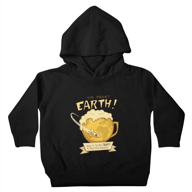 Space Beer Kids Toddler Pullover Hoody by Jordy The Gnome's Artist Shop