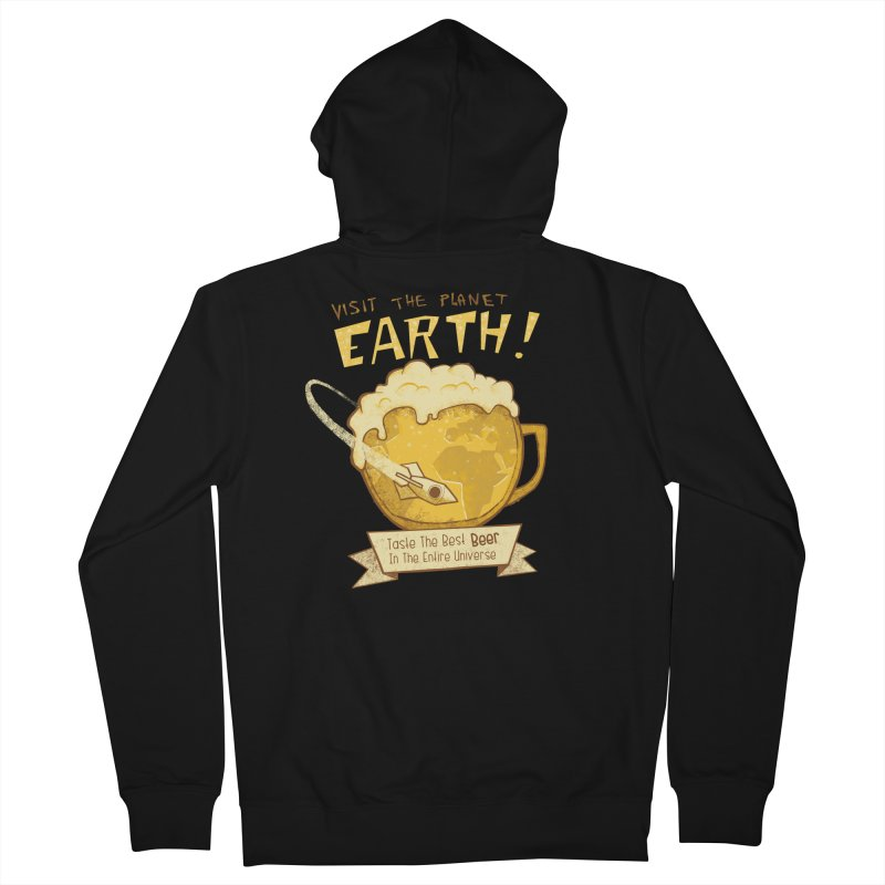 Space Beer Women's Zip-Up Hoody by Jordy The Gnome's Artist Shop