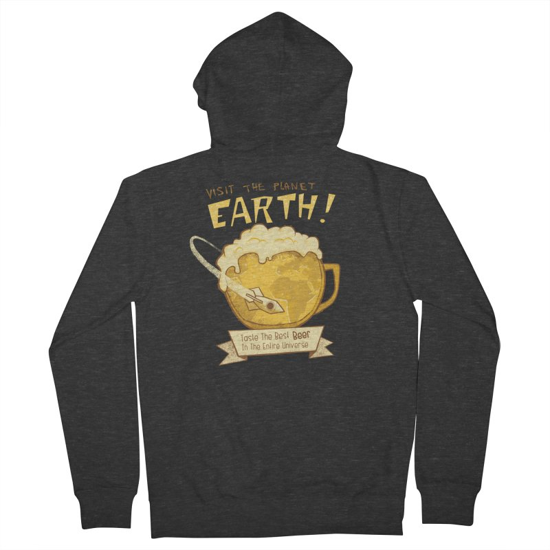 Space Beer Men's Zip-Up Hoody by Jordy The Gnome's Artist Shop