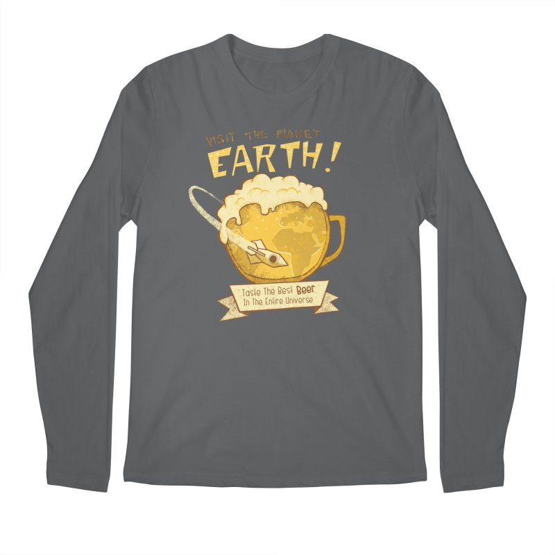 Space Beer Men's Longsleeve T-Shirt by Jordy The Gnome's Artist Shop