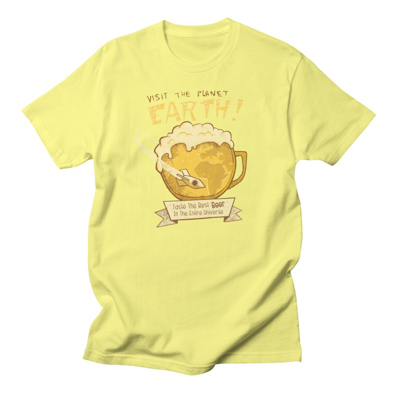 Space Beer Men's T-Shirt by Jordy The Gnome's Artist Shop