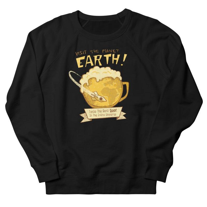 Space Beer Women's Sweatshirt by Jordy The Gnome's Artist Shop