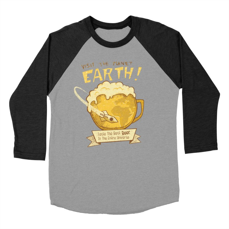 Space Beer Women's Baseball Triblend T-Shirt by Jordy The Gnome's Artist Shop