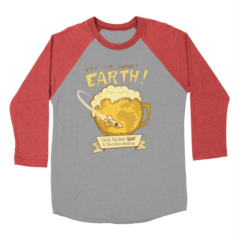 Space Beer Men's Baseball Triblend T-Shirt by Jordy The Gnome's Artist Shop