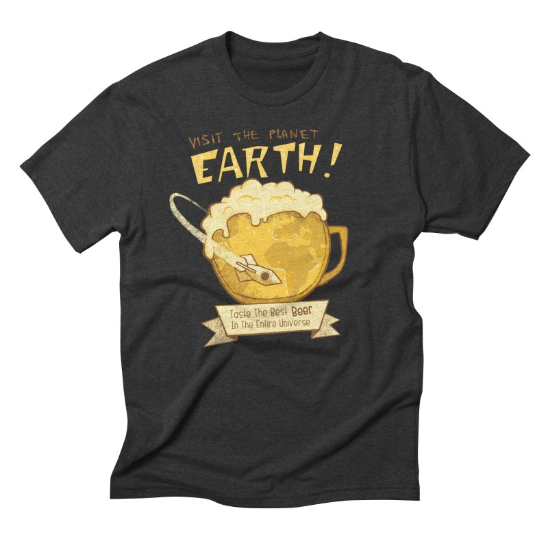 Space Beer Men's Triblend T-shirt by Jordy The Gnome's Artist Shop