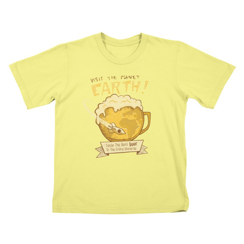 Space Beer Kids T-shirt by Jordy The Gnome's Artist Shop