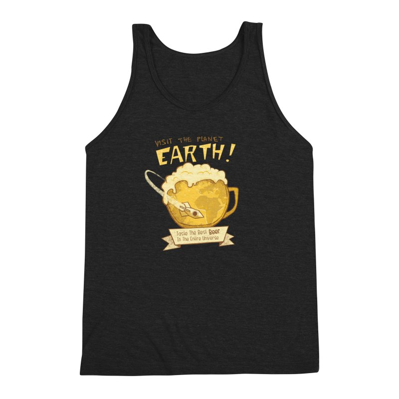 Space Beer Men's Triblend Tank by Jordy The Gnome's Artist Shop