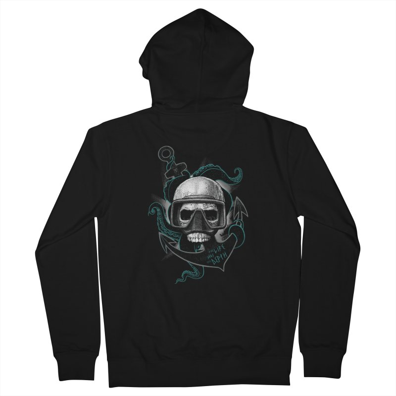 The Life Has The Depth Men's Zip-Up Hoody by Jordy The Gnome's Artist Shop