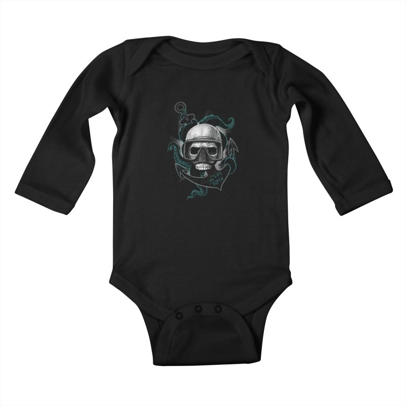 The Life Has The Depth Kids Baby Longsleeve Bodysuit by Jordy The Gnome's Artist Shop