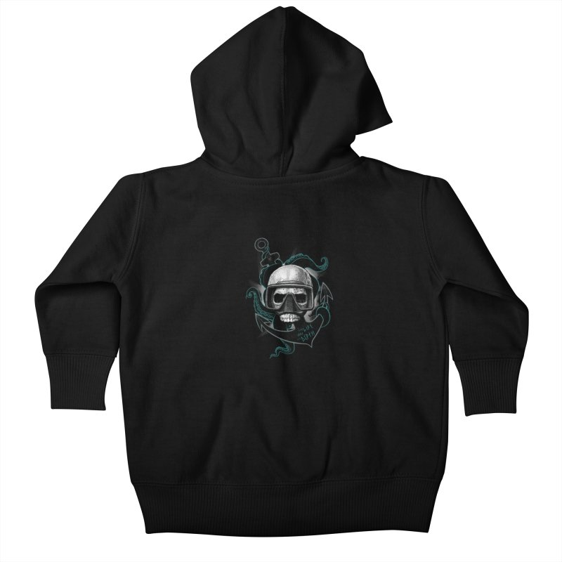 The Life Has The Depth Kids Baby Zip-Up Hoody by Jordy The Gnome's Artist Shop