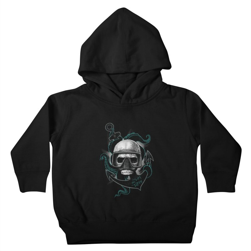 The Life Has The Depth Kids Toddler Pullover Hoody by Jordy The Gnome's Artist Shop