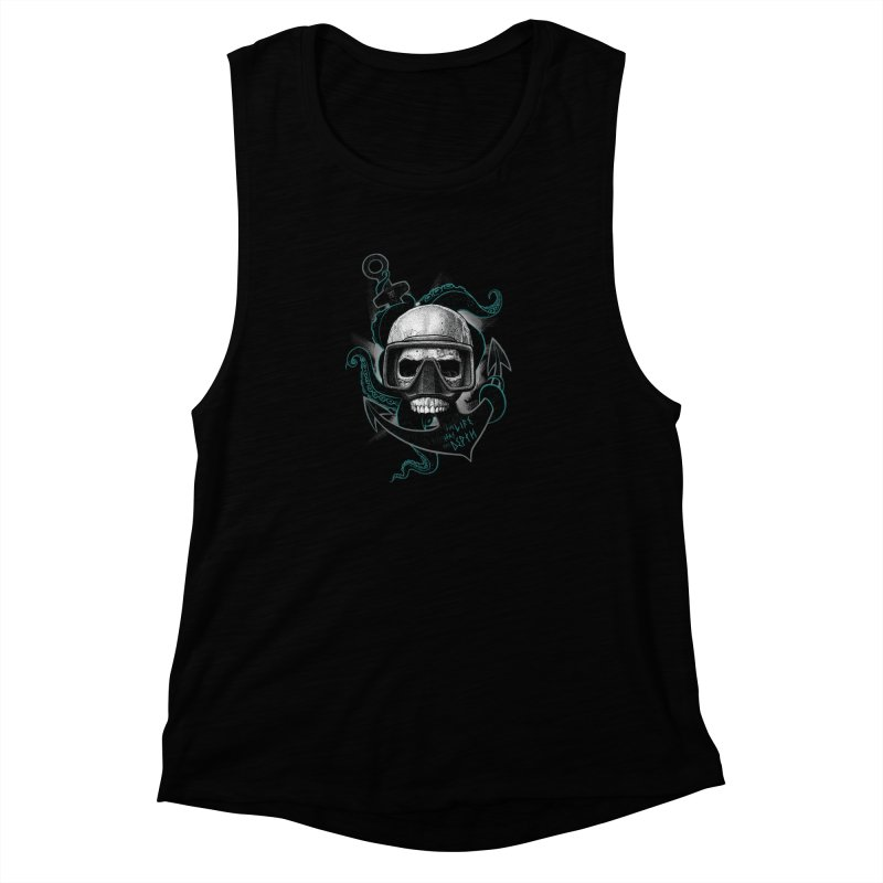 The Life Has The Depth Women's Muscle Tank by Jordy The Gnome's Artist Shop