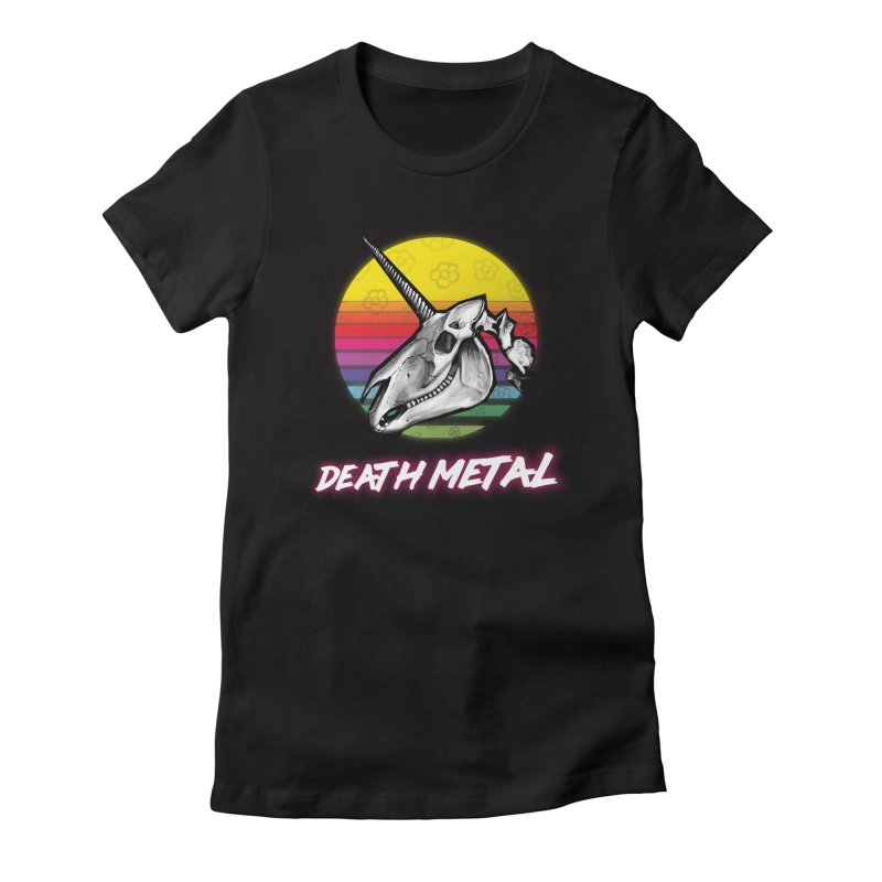 Death Metal Women's Fitted T-Shirt by Jordy The Gnome's Artist Shop