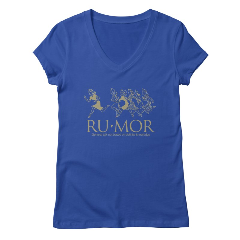 Rumor Women's V-Neck by Joseph Paz's Artist Shop
