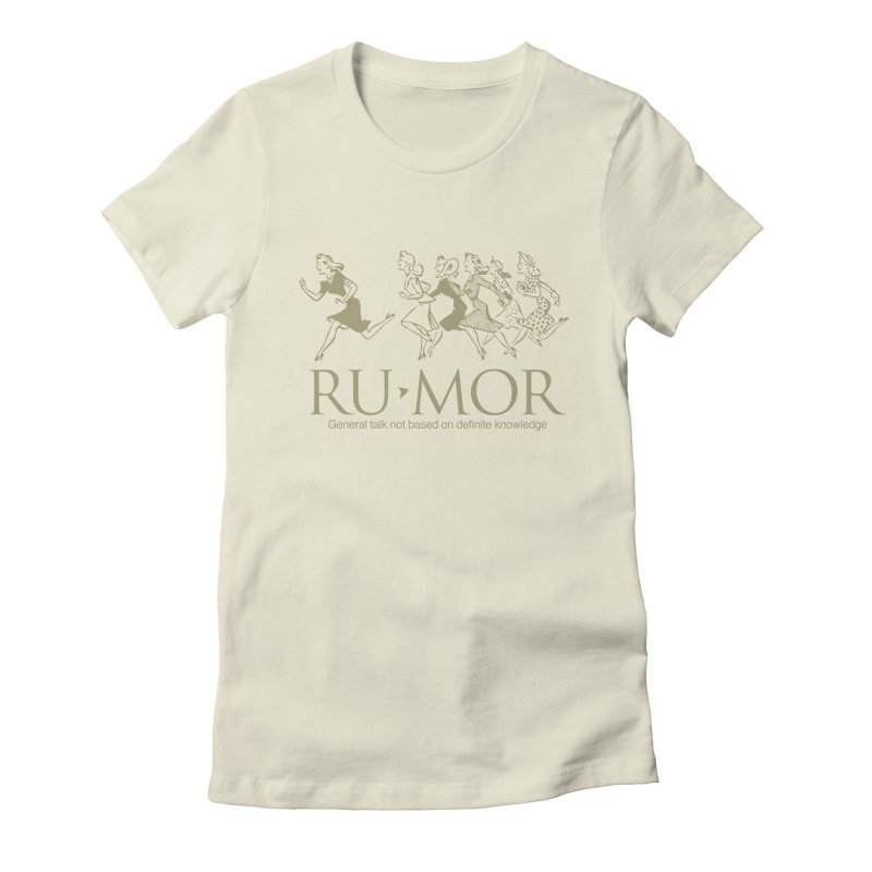 Rumor Women's Fitted T-Shirt by Joseph Paz's Artist Shop