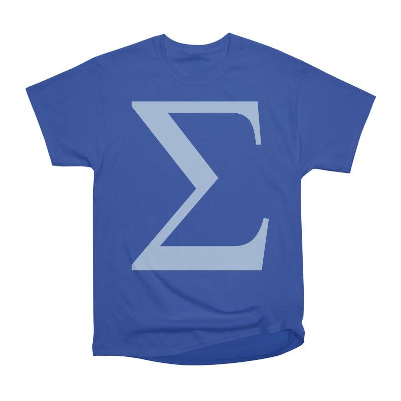 Big Sigma Men's Heavyweight T-Shirt by Joseph R Lallo