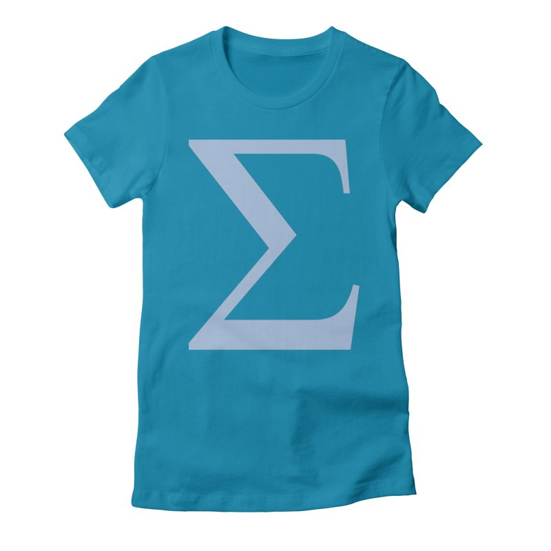 Big Sigma Women's Fitted T-Shirt by Joseph R Lallo