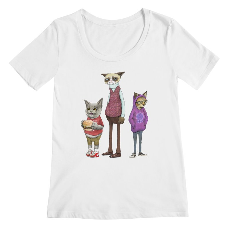 Sum Catz Women's Scoopneck by joshbillings's Artist Shop