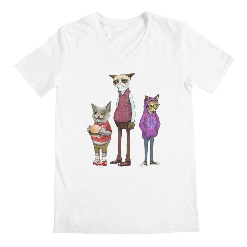 Sum Catz Men's Regular V-Neck by joshbillings's Artist Shop
