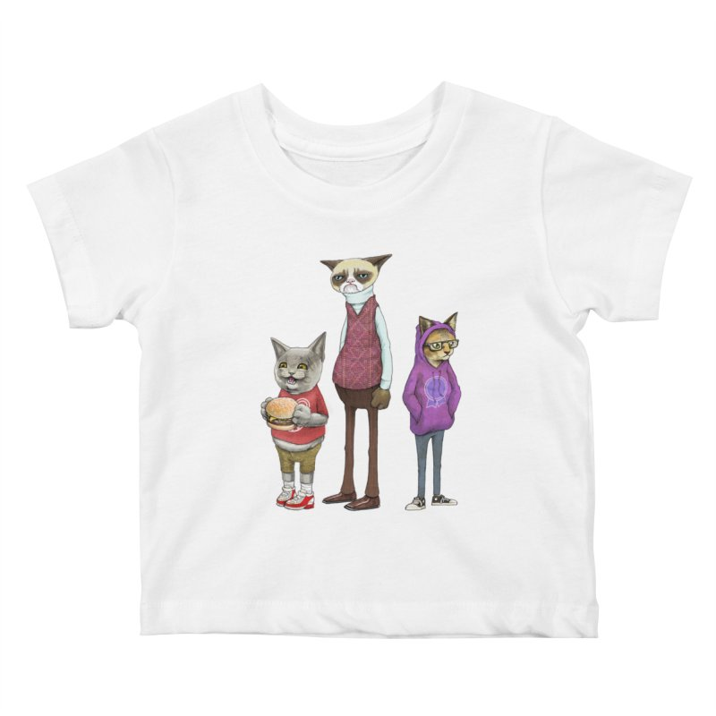 Sum Catz Kids Baby T-Shirt by joshbillings's Artist Shop