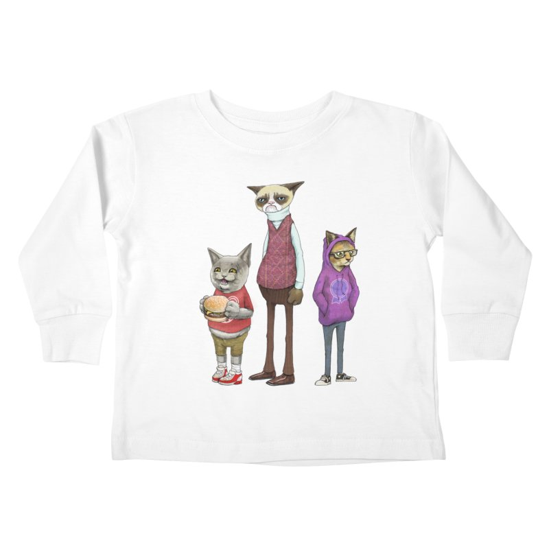 Sum Catz Kids Toddler Longsleeve T-Shirt by joshbillings's Artist Shop