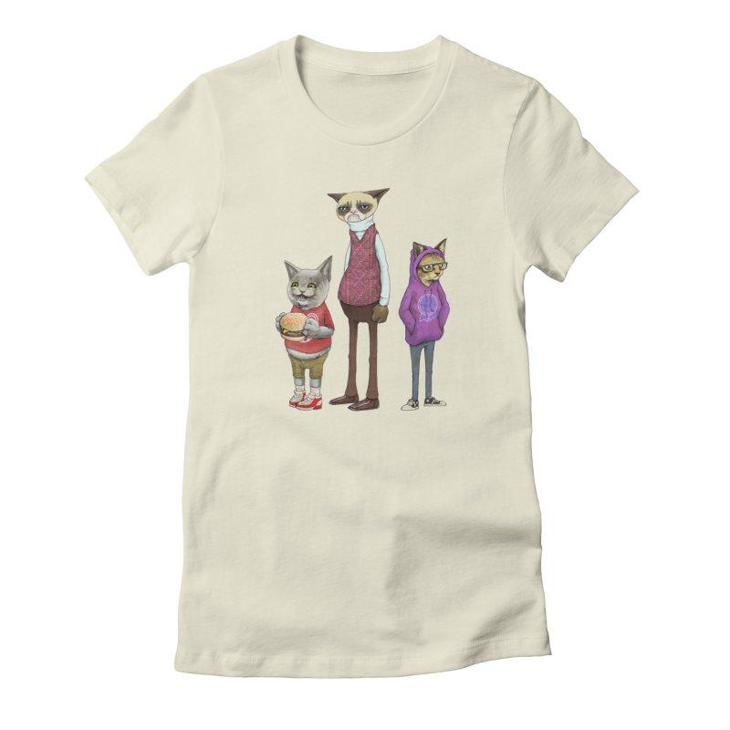 Sum Catz Women's French Terry Zip-Up Hoody by joshbillings's Artist Shop