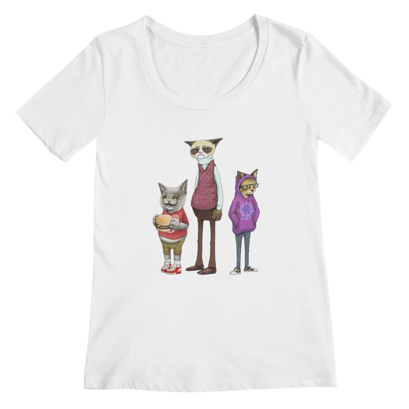 Sum Catz Women's Scoopneck by joshbillings's Artist Shop