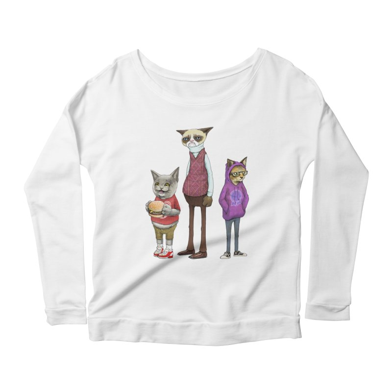 Sum Catz Women's Longsleeve Scoopneck  by joshbillings's Artist Shop