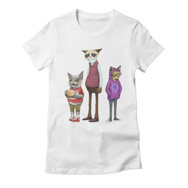 Sum Catz Women's Fitted T-Shirt by joshbillings's Artist Shop