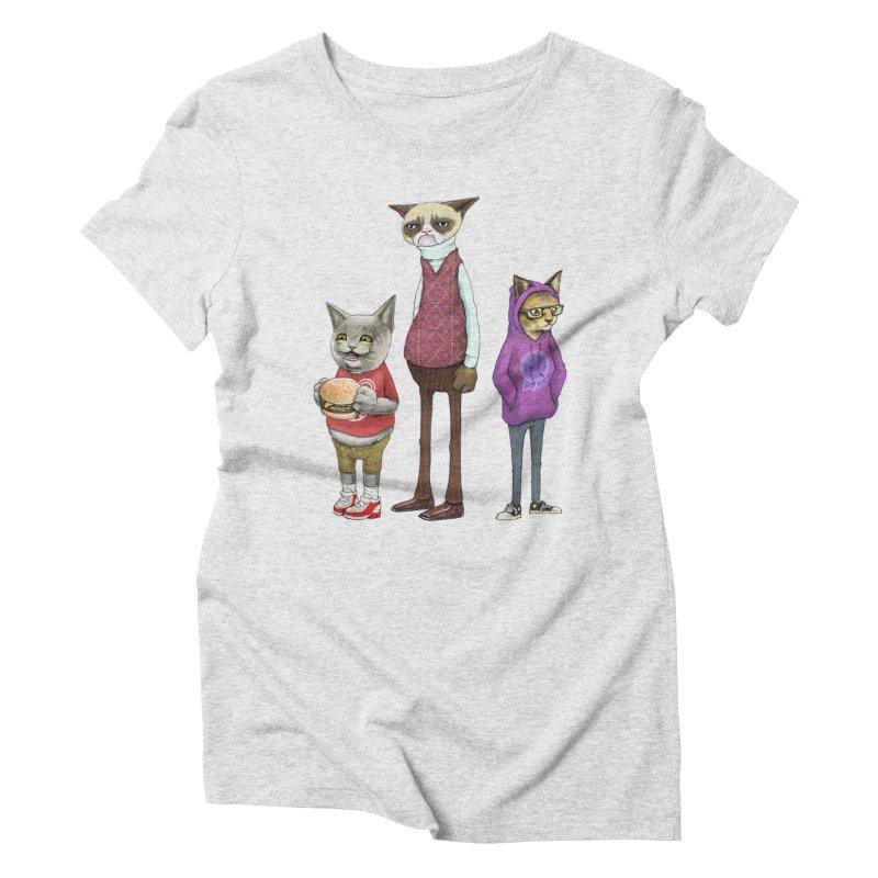 Sum Catz Women's Triblend T-Shirt by joshbillings's Artist Shop