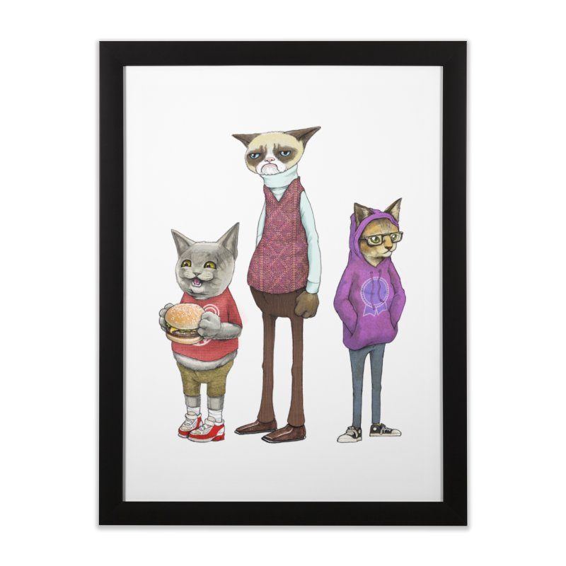 Sum Catz Home Framed Fine Art Print by joshbillings's Artist Shop