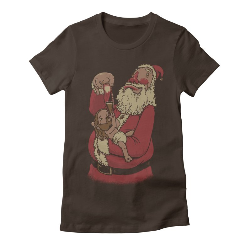 Modern Spirit of Christmas Women's Fitted T-Shirt by joshbillings's Artist Shop