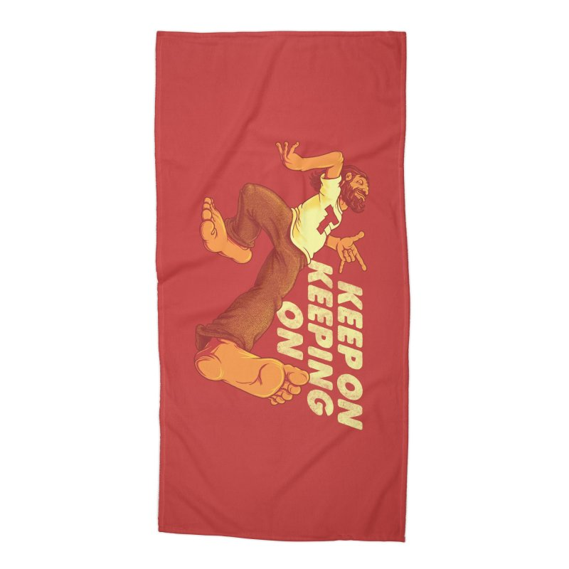 Keep On Accessories Beach Towel by joshbillings's Artist Shop