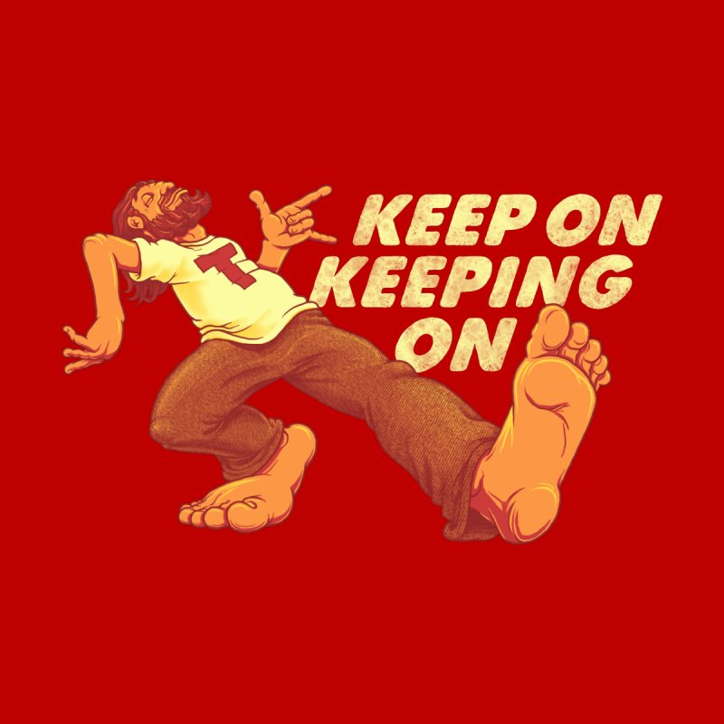 Keep On Women's Fitted T-Shirt by joshbillings's Artist Shop