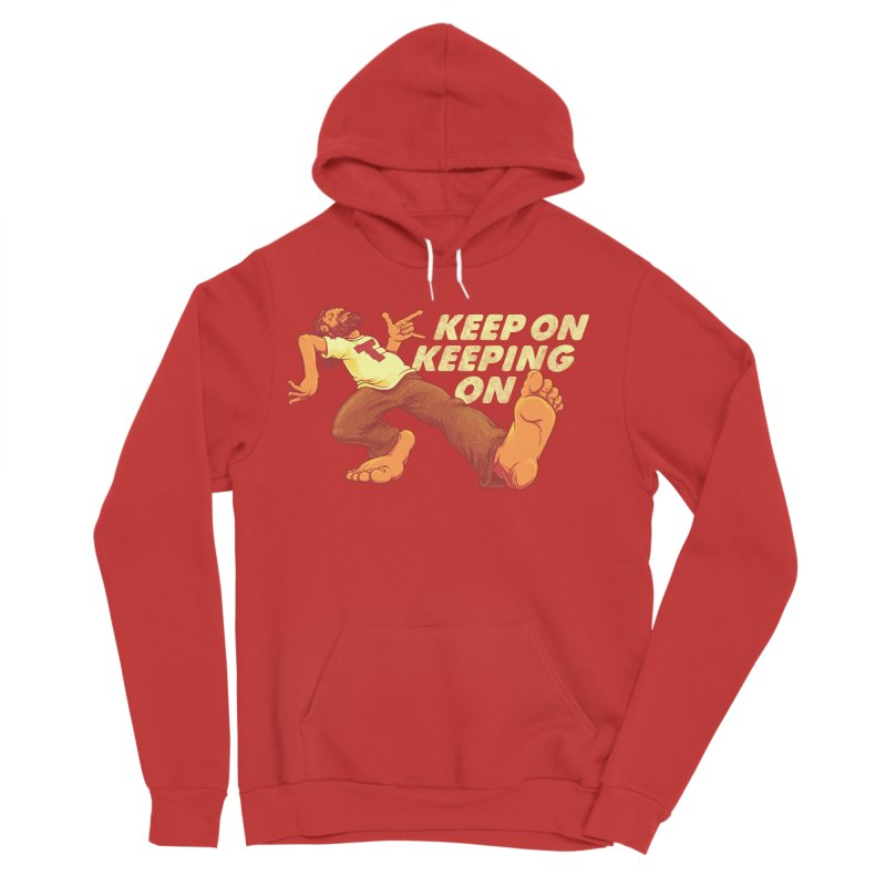 Keep On Men's Sponge Fleece Pullover Hoody by joshbillings's Artist Shop