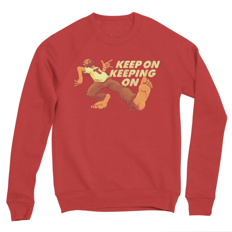 Keep On Men's Sponge Fleece Sweatshirt by joshbillings's Artist Shop