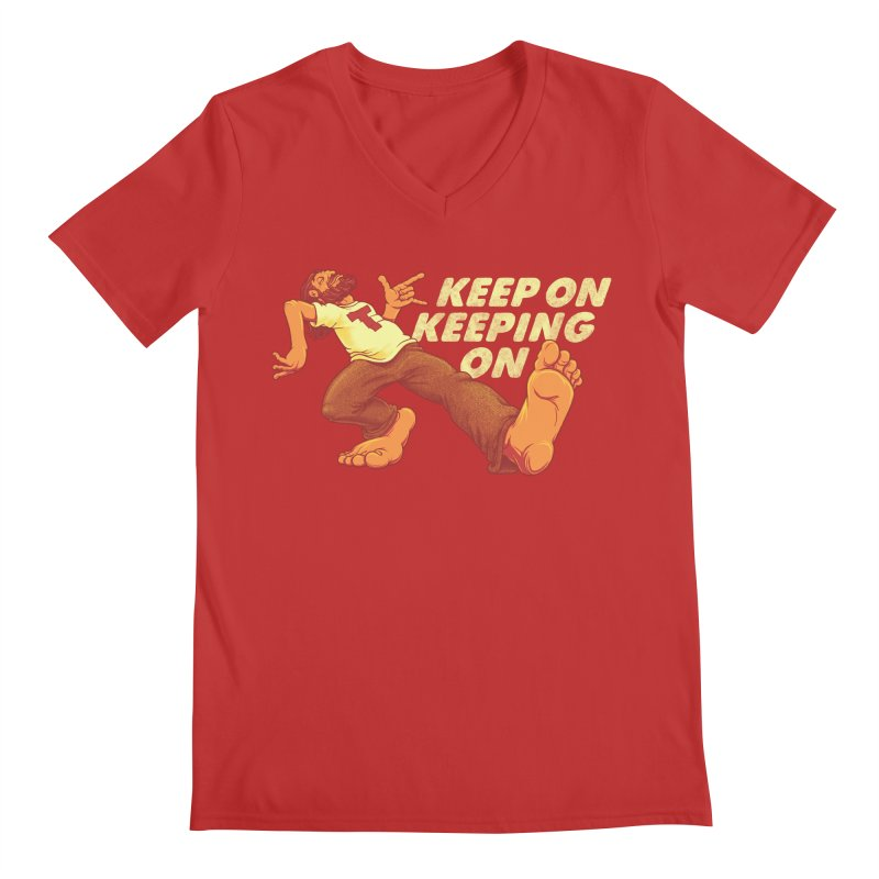 Keep On Men's Regular V-Neck by joshbillings's Artist Shop