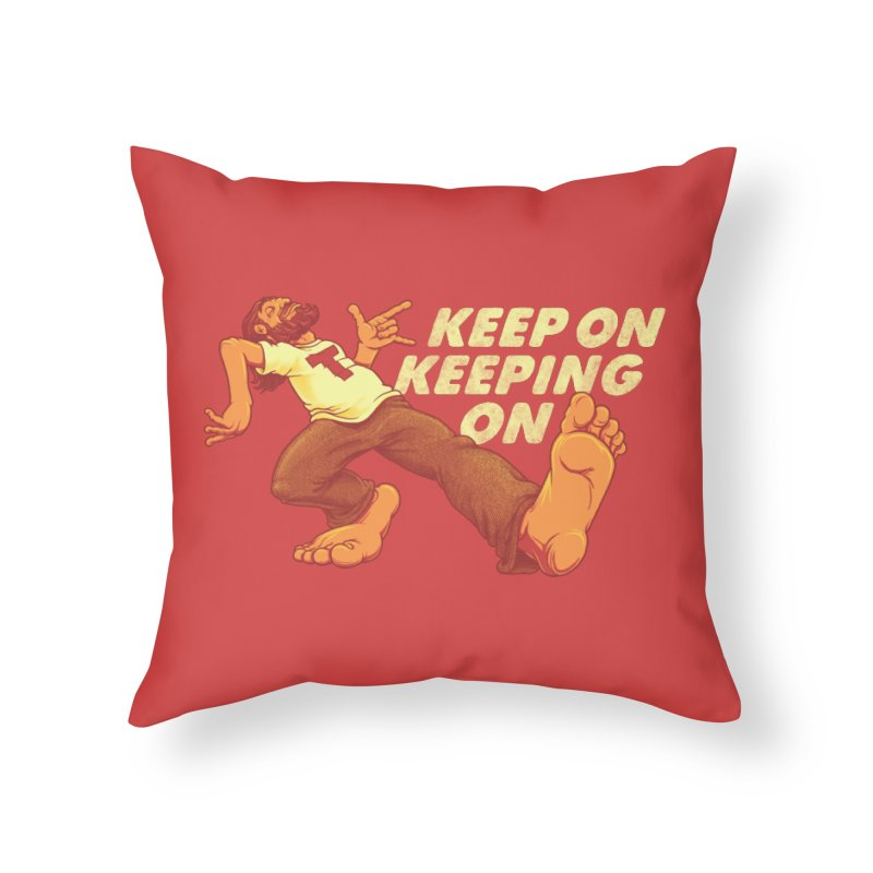 Keep On Home Throw Pillow by joshbillings's Artist Shop