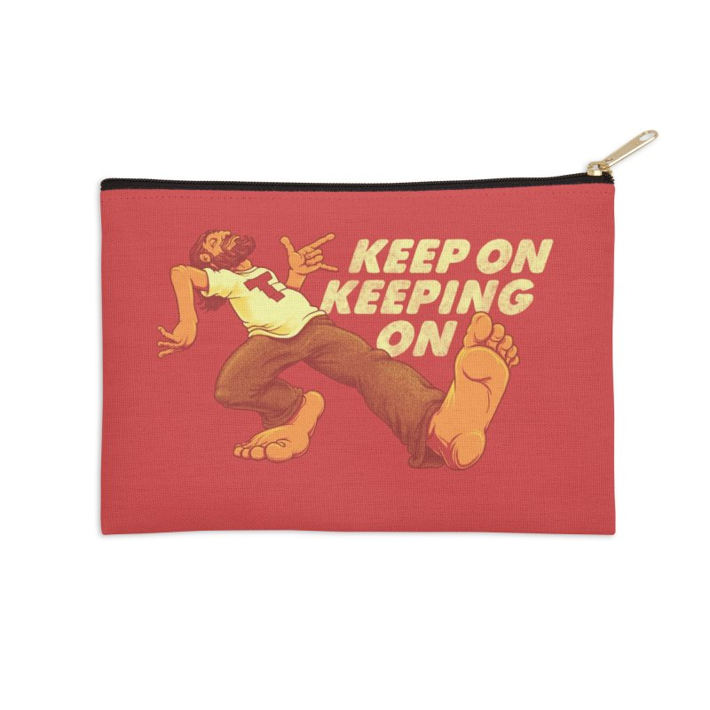 Keep On Accessories Zip Pouch by joshbillings's Artist Shop