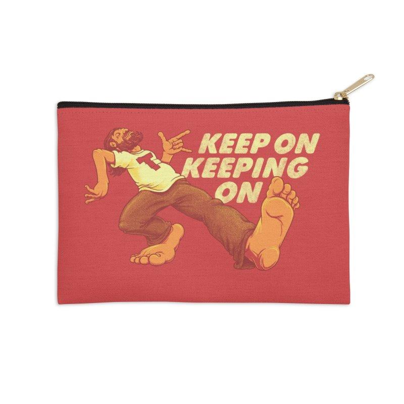 Keep On Accessories Zip Pouch by joshbillings's Artist Shop
