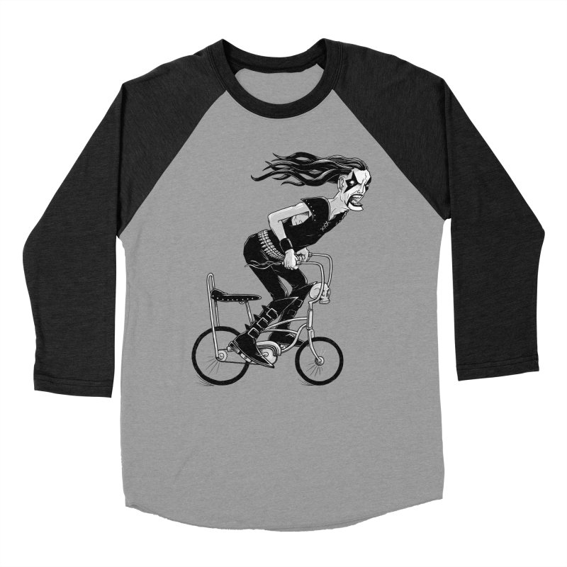 Metal to the Pedal Men's Baseball Triblend Longsleeve T-Shirt by joshbillings's Artist Shop