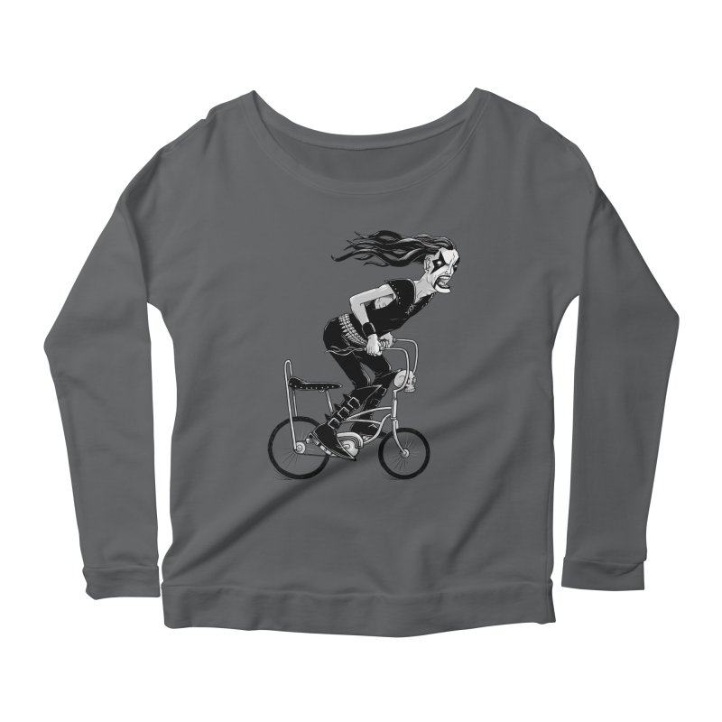 Metal to the Pedal Women's Longsleeve Scoopneck  by joshbillings's Artist Shop