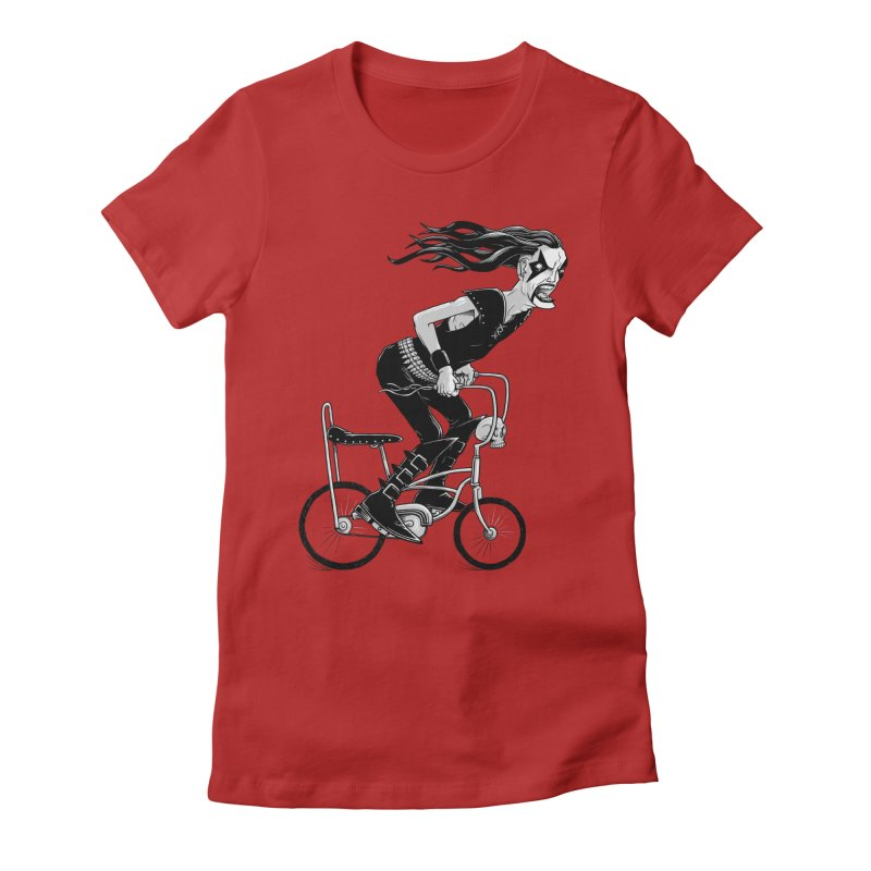 Metal to the Pedal Women's Fitted T-Shirt by joshbillings's Artist Shop
