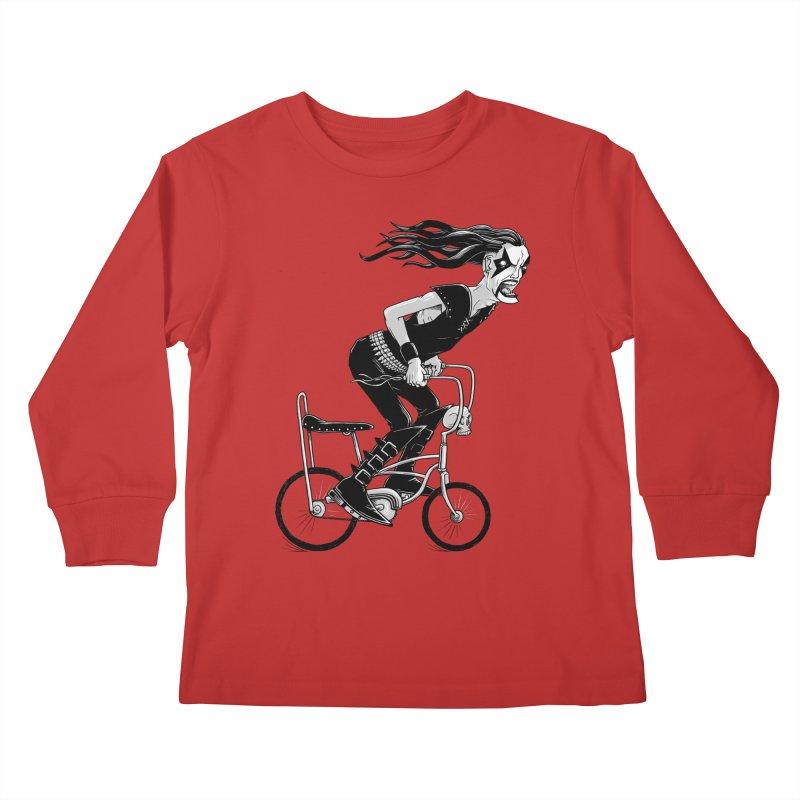 Metal to the Pedal Kids Longsleeve T-Shirt by joshbillings's Artist Shop