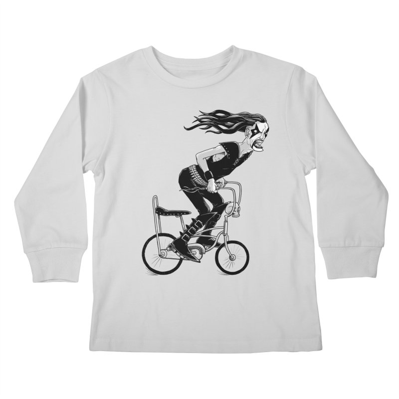 Metal to the Pedal Kids Longsleeve T-Shirt by joshbillings's Artist Shop