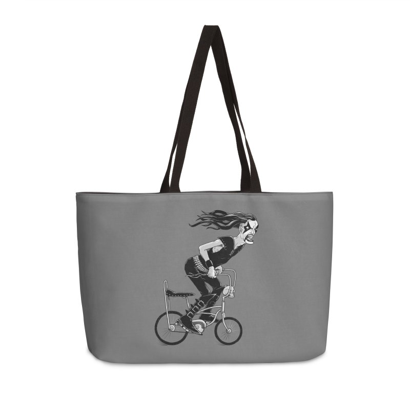 Metal to the Pedal Accessories Weekender Bag Bag by joshbillings's Artist Shop
