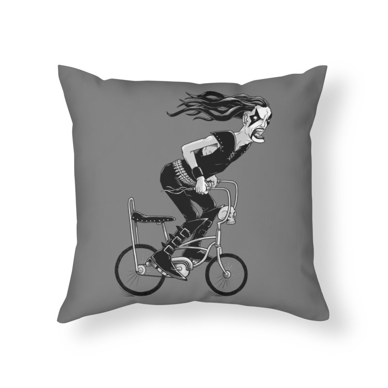 Metal to the Pedal Home Throw Pillow by joshbillings's Artist Shop