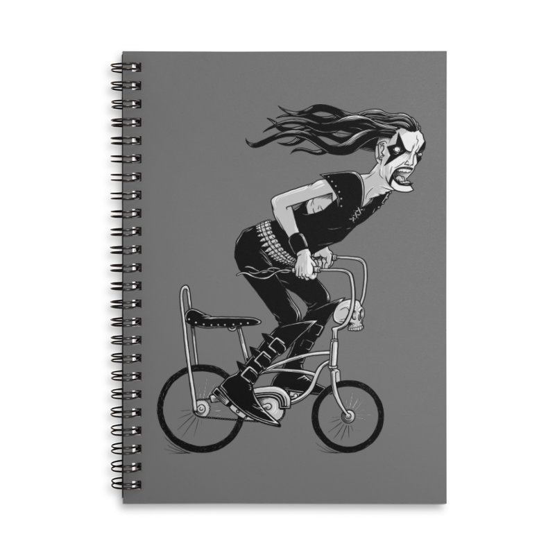 Metal to the Pedal Accessories Lined Spiral Notebook by joshbillings's Artist Shop